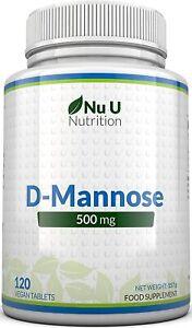 D-Mannose Tabletten 500mg 120 Tabletten Hohe Wirksamkeit Allergenfrei Vegetarier