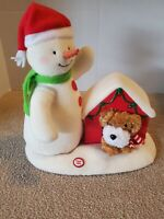 Hallmark Jingle Pals Plush Deck The Halls Duo Singing Snowman Dog Animated Light