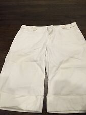 Sita Murt/ Esteve White Capri Cotton Pants Eur Sz 42