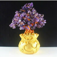 Chinese Traditional Home Decoration of Crystal Money Tree Retro Handicrafts
