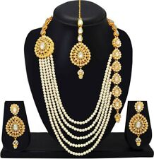 Indian Traditional Wedding Gold Plated Bridal Jewelry Rajwadi Rani Haar Ethnic