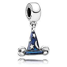 Disney Park PANDORA Bracelet Mickey Mouse SORCERER HAT Charm Sterling Silver NEW