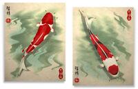 Koi Art Prints Asian Wall Decor
