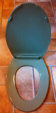Beneke High Quality Solid Plastic Elongated Toilet Seat 520 - Briggs AVOCADO