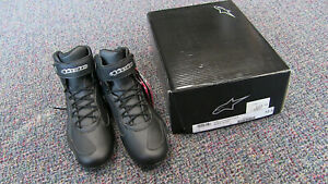 Alpinestars Stella Faster-3 Womens Motorcycle Riding Shoes - Black/Silver - 10.5