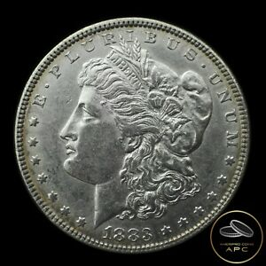 1883 Morgan Dollar 90% Silver AU++ Almost Uncirculated Nice Outer Natural Toning