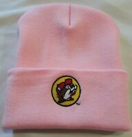 """BUC-EE'S Knit Pink Beanie Winter Cuffed Skull Cap """"For the Buc-ee's Lovers"""""""