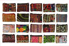 Wholesale lot of 20 SMALL PURSE BAGS INDIAN VINTAGE BANJARA PATCHWORK BAG