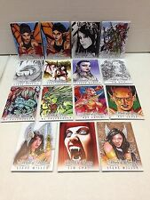 WORLD OF FANTASY (Breygent) Z-CARD ARTIST CARD SET of ALL 15 DIFFERENT CARDS