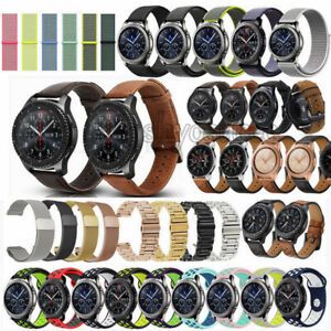 Stainless Leather Silicone Band Bracelet Strap for Samsung Galaxy Watch 42 46mm