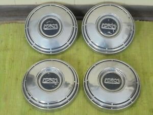 "68 69 70 71 72 73 74 Ford Dog Dish HUB CAPS 10 1/2"" Set of 4 Hubcaps"