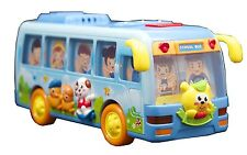 Happy Shaking School Bus Battery Powered Bump N Go Lights Sounds Learn and Play