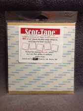 """Scor-Tape. Five 6"""" x 6"""" Sheets Double-Sided Adhesive"""