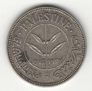 1927 PALESTINE SILVER 50 MILS