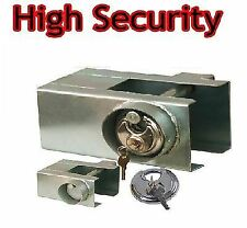 New Silver Trailer Caravan Lock Hitchlock Universal Padlock High Security