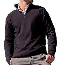 Balldiri 100% Cashmere señores suéter Troyer 4 fädig espolvoreado XL