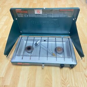 Coleman Classic Camp Stove Propane 2 Burner Clean Barely Used Camping Grille Gas