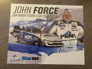 JOHN FORCE AUTOGRAPHED 8X10 PICTURE HERO CARD W/COA