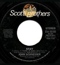 "JOHN SCHNEIDER - It's Now Or Never / Stay. - 7"" 45 RPM Vinyl"