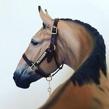 Custom Traditional Scale Model Horse Halter w/ CM nameplates For Breyer Resin
