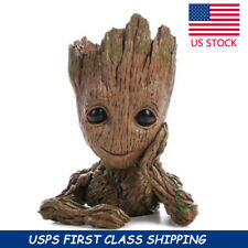 """Guardians of The Galaxy Vol. 2 Baby Groot 7"""" Figure Flowerpot Style Toy Gift US"""
