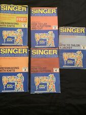 Vintage 1972 Singer Sewing for Home & Fashion 1 - 5 Learning Books Patterns
