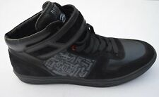 NEW Hogan Rebel Black Leather/Suede High Top Lace Up Sneakers Sz UK12 US 13 $550