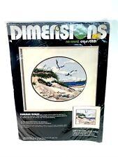 Sealed Dimensions No Count Cross Stitch KIT #3911 Summer Dunes Seashore Seagulls