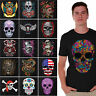 Sugar Skulls T-SHIRT Day Of Dead Shirts Halloween shirt Dia De Los Muertos BLACK
