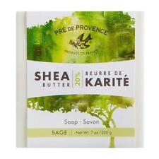 PRE de PROVENCE, SAGE CUBE 20% SHEA BUTTER ENRICHED SOAP (200G) - Made in France