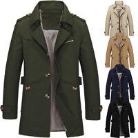 Fashion Men's Winter Slim Vogue Trench Coat Long Jacket Overcoat Outwear XL-5XL