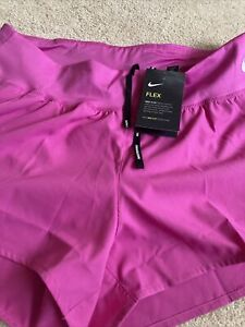 Nike Pink Ladies Running Shorts XL Lined