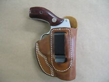 Smith & Wesson 60, 36, 640, 642, 442 IWB Leather In Waistband CCW Holster TAN RH