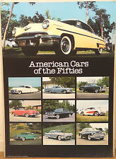 (PRL) AMERICAN CARS AUTO AMERICANE ANNI '50 VINTAGE AFFICHE ART PRINT POSTER