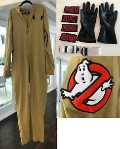 SPIRIT HALLOWEEN GhostBusters Halloween Unisex Costume 3XL w/ gloves, belt, name
