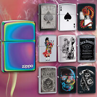 Zippo Genuine Cigarette Lighters Windproof Refillable Petrol Lighter Flip Top