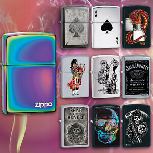 Zippo Genuine Cigarette Lighters Windproof Refillable Petrol Lighter Flip Top