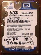 """WD Scorpio Blue  640GB 7200RPM 2.5"""" WD6400BPVT Hard Drive, Storage, as-is"""