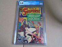 TALES OF SUSPENSE #52 1st app. BLACK WIDOW Marvel Comics 1964 CGC 2.0