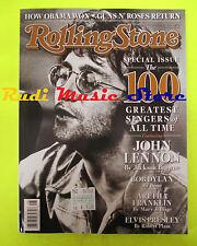 ROLLING STONE USA MAGAZINE 1066/2008 John Lennon Elvis Presley Bob Dylan  No cd