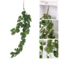 Indoor Decor Artificial Fake Hanging Ivy Vine Leaf Garland Plants Fine Silk S0Z6