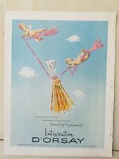 1951 D'orsay Intoxication perfume bottle flying cherubs champagne fragrance ad