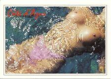 Original Vintage French Nude Risque PC- Cote d Azur- Endowed Woman Floating