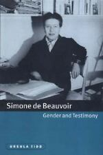 Simone de Beauvoir: Gender & Testimony. by Ursula Tidd