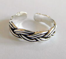 Sterling Silver (925) Adjustable Rope Pattern Toe Ring ! Brand New !