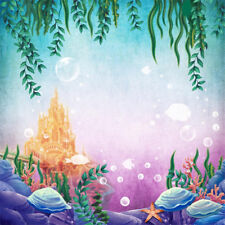 5x7ft Vinyl Undersea Underwater Mermaid Photography Studio Backdrop Background
