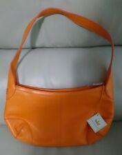 "Baekgaard Shoulder Bag Genuine Leather Orange Mango Bubblegum 13"" - NEW WITH TAG"