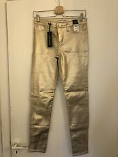 New With Tags River Island Molly Jeans Size 8 Gold Perfect Condition