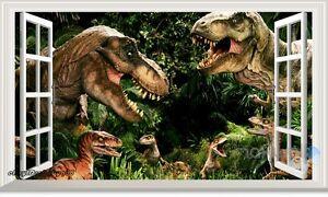 60X100cm Dinosaur World Park 3D Window Wall Decals Stickers Boys Mural Jurassic