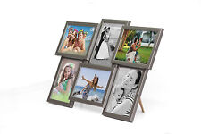 604 Holz Bildergalerie Collage für 6 Fotos 10x15 cm 3D Wandgalerie Bilderrahmen